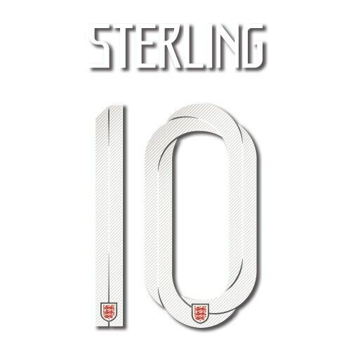 England 2018 Away Sterling #10 Jersey Name Set