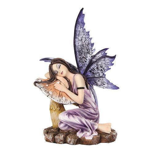 FAIRY WITH MUSHROOM Meadowlands Faerie Figurine butterfly faery figure statue