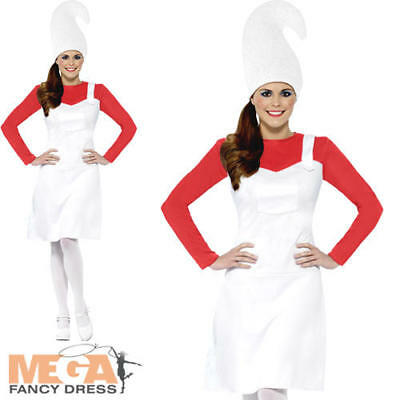 Red Garden Gnome Ladies Fancy Dress Book Day Week Novelty Adults Womens Costume - Garden Gnome Costume Adults