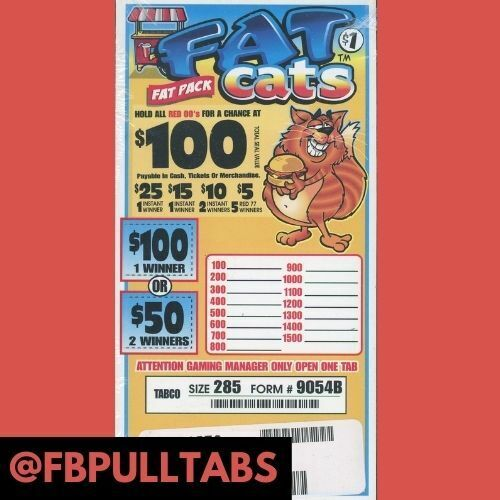 FAT PACK ONE DOLLAR PULL TAB GAME - 285 COUNT - 100 PROFIT - ONE GAME ONLY