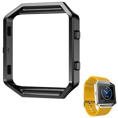 Black Polished Stainless Steel Metal Frame Holder Shell For Fitbit Blaze  Polished Steel Metal