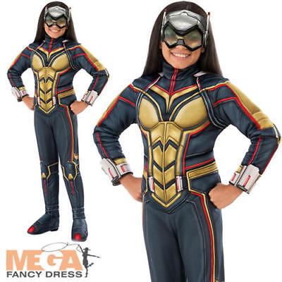 Deluxe Wasp Girls Fancy Dress Ant-Man Marvel Comics Superhero Kids Movie Costume