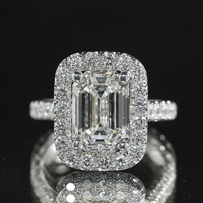2.25ct GIA 18K White Gold Emerald Cut Diamond Engagement Ring H/VS1 (1179180185)