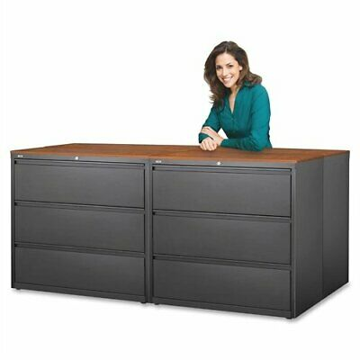 Lorell 3-drawer Putty Lateral Files - 36 X 18.6 X 40.3 - Steel - 3 X File
