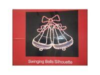 Christmas Lights / Indoor and Outdoor Use - Santa, Snowman, swinging bells