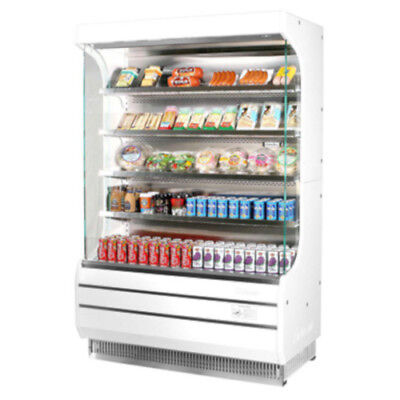 Turbo Air Tom-50w-n Vertical Open Display Case Cooler Full Height In White