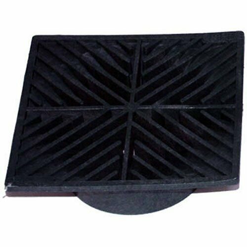 2 Pack: 6 in. Plastic Square Drainage Grate in Black
