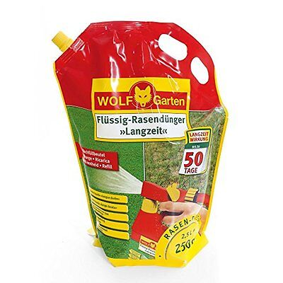 WOLF-Garten Flüssig-Rasendünger Langzeit Schnelle Effektive Nährstoffzufuhr Blat
