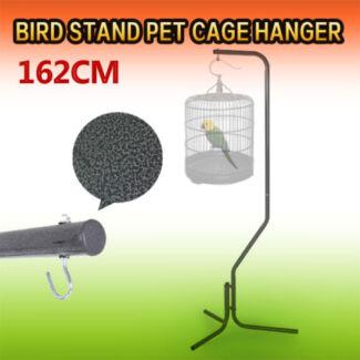 Bird Stand Pet Cage Hanger Parrot Aviary Iron Tube Frame 162cm