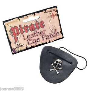 NEW-ADULT-PIRATE-BLACK-LEATHER-EYE-PATCH-EYEPATCH-FANCY-DRESS-COSTUME-ACCESSORY