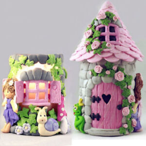 Marvelous Cute Diy Silicone Fondant Mould Cake Decor Chocolate Mold 3D Fairy House Door Up Download Free Architecture Designs Scobabritishbridgeorg