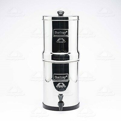 Travel BERKEY Water Filter System w/ 2 Black Filters FREE Ship New
