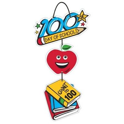 100th DAY OF SCHOOL DELUXE WOODEN SIGN ~ Classroom Teacher Supplies Decorations