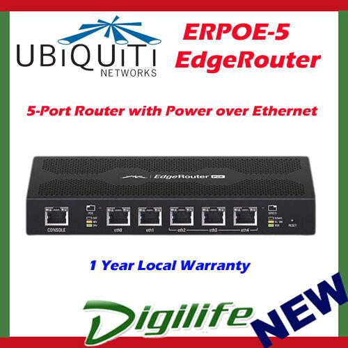Ubiquiti EdgeRouter 5 Port Gigabit Switch Router PoE ERPOE-5