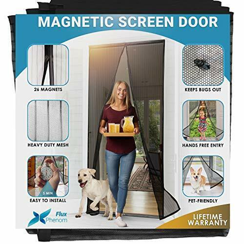 Flux Phenom Reinforced Magnetic Screen Door, Fits Doors Up t