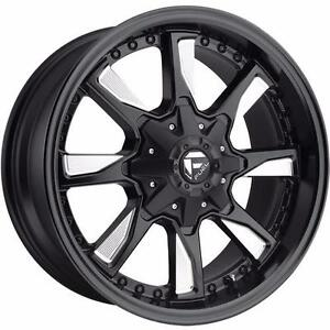"BRAND NEW Fuel ""Hydro"" D603 20"" Rims Black/Milled Ford Chevy GMC $1449/set!"