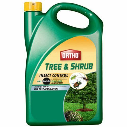 Ortho Tree & Shrub Insect Control Plus Miracle-Gro Plant Food Concentrate 64 oz Home & Garden
