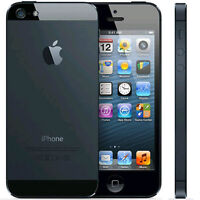 LIKE NEW IN BOX BLACK APPLE IPHONE 5 16GB WIFI - Bell/Virgin