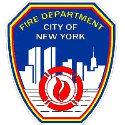 4 Inch Inside or Outside FDNY New York Fire Department Static Cling
