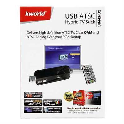 KWorld Hybrid TV Tuner FM and Video Capture TV Tuners and Video UB445-U2 used