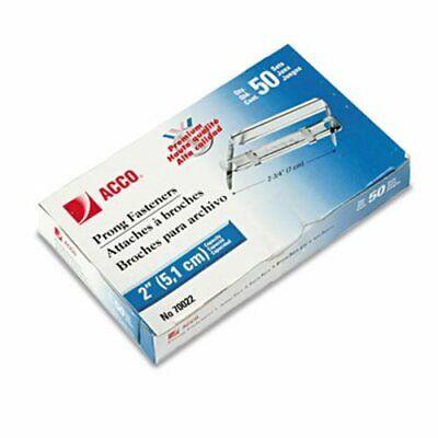 Acco Premium 2 Piece Paper File Fasteners 2 Inch Capacity 50bx Acc70022
