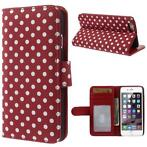 Apple IPhone 6 6S agenda case wallet hoesje polka stippen...