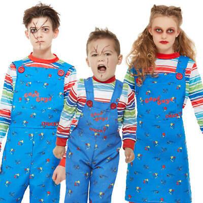 Chucky Kids Fancy Dress Halloween Horror Killer Doll Boys Girls Toddler Costumes
