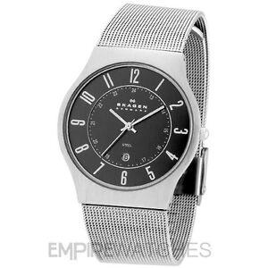 skagen mens ultra slim watch new skagen mens ultra slim mesh titanium watch 233xlttm rrp £135 00