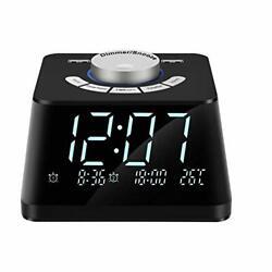 NEW Digital Alarm Clock with FM Radio 4.7 Inch LED Display Dual USB Charge Port