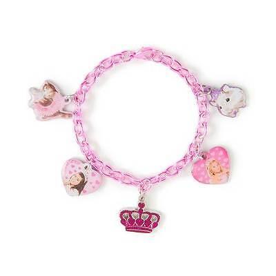 Sophia Grace & Rosie Charm Bracelet Best Friends Crown Pink British Stars