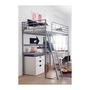 IKEA SVARTA Loft Bed with Desk & Mattress - Near New Camp Hill Brisbane South East Preview