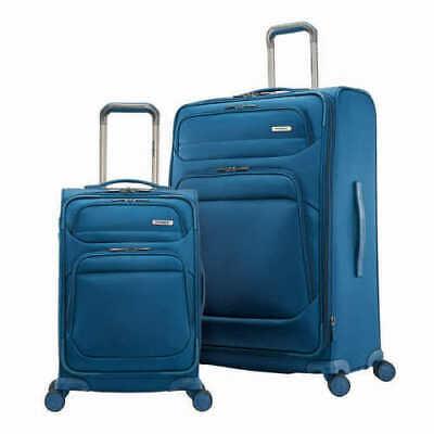 "Samsonite Epsilon Spinner Luggage set 27"" suitcase and 22"" carry on ~Blue~"