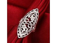 REAL SILVER HALLMARKED RINGS AND NECKLACES AND GENUINE STONES AND CRYSTALS ,