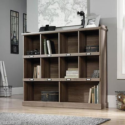 Bookcase Box Shelf Salt Oak Bookshelf Wood Furniture Adjustable Book Shelving