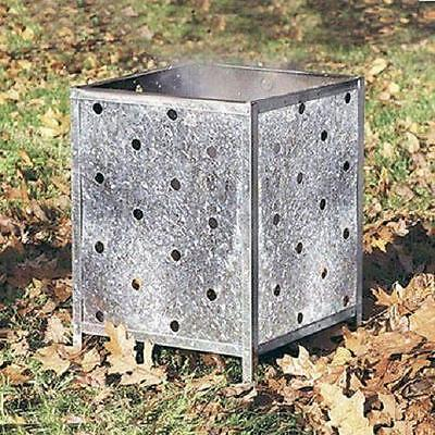 GENUINE PARASENE SQUARE INCINERATOR  - GALVANISED WITH HOLES ALL THE WAY UP