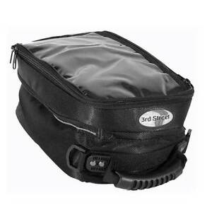 3rd-Street-Magnetic-Motorcycle-Tank-Bag-NEW-Third-Pouch-Black-Nylon-Dust-Cover