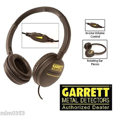 Garrett™ ClearSound Easy Stow Headphones with In-Line Volume for Metal Detectors