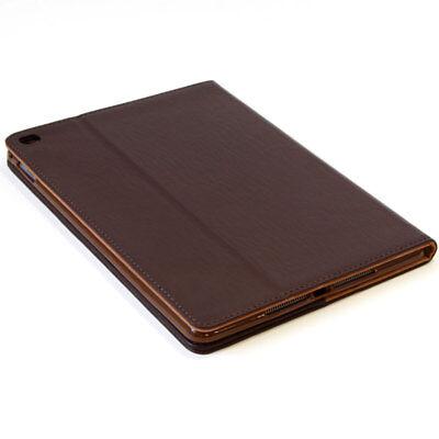Luxury Leder Schutzhülle für Apple iPad Air 2 Tablet Tasche Cover Case braun