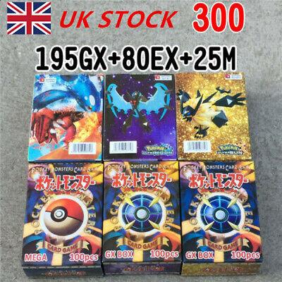 195 GX + 25 MEGA + 80 EX Pokemon Cards English Edition Booster Box Break Point*