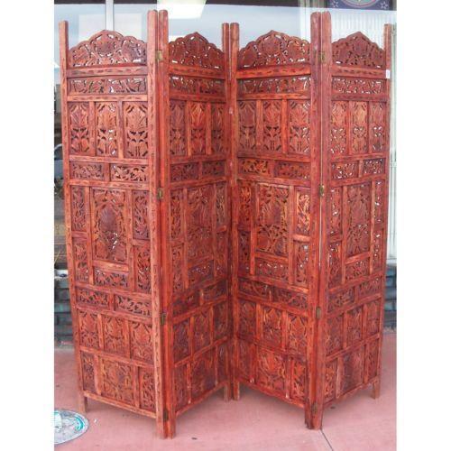 carved room divider ebay. Black Bedroom Furniture Sets. Home Design Ideas