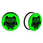 Green Ear Tunnel/Plug Body Piercing Jewelry