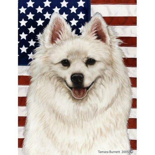 Patriotic (D2) House Flag - American Eskimo 32126