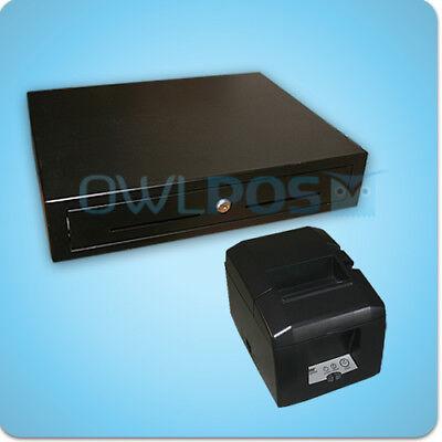 Square Stand Bundle Star Tsp654u Usb Receipt Printer Cash Drawer Combo Tsp650