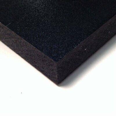 Black Pvc Celtec Foam Board Sheet 24 X 48 X 6mm 14 .25 Thick Nominal