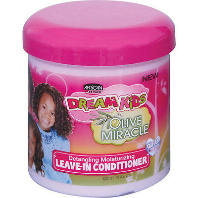 African Pride Dream Kids Olive Miracle  moisturizing  Leave-In Conditioner 15oz African Pride Leave In Conditioner