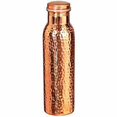 Health Benefits Hammered 100% Pure Copper Bottle Drinkware Water Bottle Handmade
