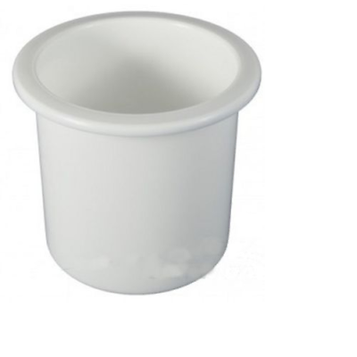 """2 PACK Recessed 3"""" White Cup Drink Holder For Boat RV Motorhome Trailer"""