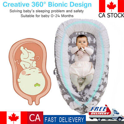 Portable Baby Nest Newborn Infant Cosleeping Baby Bed Bassinet for 0-24 Month