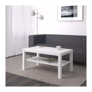 Ikea white coffee table - lack, also have the end table