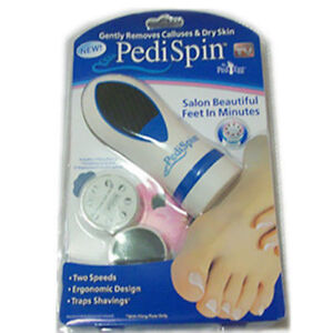 Pedi Spin Electronic Foot Callus Removal Kit Ped Egg New As Seen on TV UK Seller